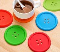 Круглый силиконовые подставки кнопка подставки Кубок мат Главная напиток столовые приборы посуда каботажное судно чашки колодки 5 цветов