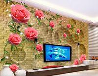 Fototapeten Wandtapete Traum stieg Blume Reben Sternenlicht Tapete für 3d