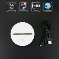 White LED Base 7 RGB Lights with 10 LEDs Touch Button AA Bat...