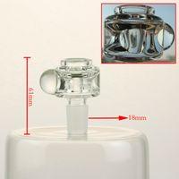 Hochwertige schwarze Schale, Gewicht: 64 g, 18 mm Steckverbindung, transparente Glasschale