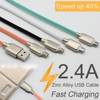 1M 3ft Zinc Alloy USB Cable Fast Charging Data Sync USB Char...
