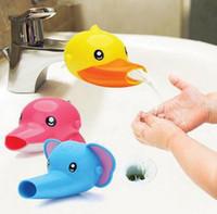 3 unids Extensión de Fregadero Extensor de Agua de Dibujos Animados Lindo Bebé Lavado de Manos Lavar Dedicado Accesorios de Baño Conjuntos de Gel de Sílice
