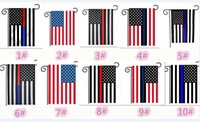 10pcs 12*18inch 30*45CM Blue Line Red Line USA Police Flags ...