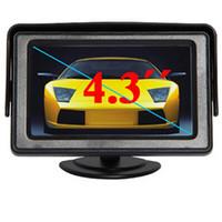 """4,3 """"TFT Couleur LCD Moniteurs de voiture inverser rétroviseur caméra miroir 4,3 pouces Moniteur de voiture pour caméra DVD VCD 2 entrée vidéo"""