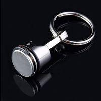 도매 프로 모션 선물, 실버, 금속 피스톤 자동차 키 체인 Keyfob 엔진 FOB 키 체인 링 키 링
