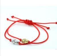 10er Red String chinesischen Knoten String Buddha Lucky Red Cord einstellbare Armband Geschenk