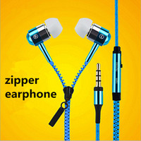 Новые наушники-молния наушники-вкладыши Микрофон 3,5 мм гарнитура для iphone samsung huawei HTC LG Аксессуары для мобильных телефонов DHL