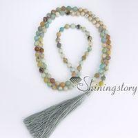 108 mantra méditation perles indiennes bouddhiste tibétain hindou perles de prière collier yoga mala perle collier yoga guérison spirituelle bijoux