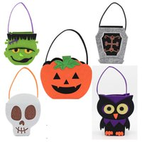 Halloween Decoration Props Smile Face Pumpkin Candy Bag Chil...