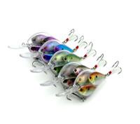 업그레이드 된 버전 9.5cm 18g Glass Minnow 담수 또는 바닷물 낚시를위한 라이브 타겟 유혹 넓은 흔들림 작용으로 빠른 다이빙