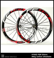 الجديد! شحن مجاني 700c ffwd F5R 50 ملليمتر الفاصلة حافة الطريق دراجة 3 كيلو الكربون دراجة العجلات مع عجلات سبائك الكربون سطح الفرامل