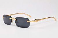 nuovi occhiali da sole di sport di modo per cornice d'oro delle donne senza montatura degli occhiali da sole argento e nero grigio multi colore serie specchio leopardo marrone