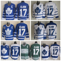 Vintage Toronto Maple Leafs 17 Wendel Clark Hockey Jerseys V...