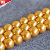 Nuovo per collana Accessori braccialetto 14mm perle d'oro conchiglia perle conchiglia regalo fai da te per le donne ragazza sciolto perline gioielli 15 pollici
