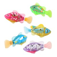 All'ingrosso-Electronic Fish Activated Battery Robofish Powered Toy Bambini Robotic Pet Holiday Gift può nuotare per il regalo del bambino BM88