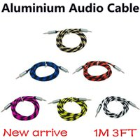 New Braided Aluminium 3. 5mm Stereo Auxiliary Aux Cord Jack m...