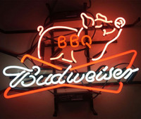 "17"" x14"" New Budweiser BBQ PIG Beer Bar Bud Light B..."