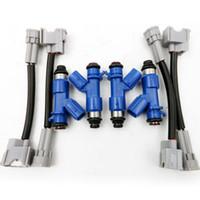 4x Yeni OEM Denso Acura RDX 410cc Yakıt Enjektörleri W / Fiş Oyna Adaptörleri Honda için