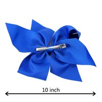 vendita calda! 10 pollici Boutique Grosgrain Ribbon Bow Girls Forcine Big Bowknot Accessori per capelli Accessori per capelli 196 colori disponibili! 24pcs /