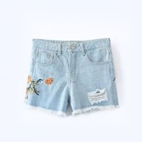 Zipper Fly Europe and America Fashion Women' s Shorts Je...