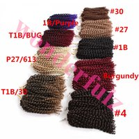 8 inch 3pcs set Marly bulk hair Synthetic with Ombre purple ...