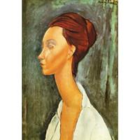 Dipinti ad olio su regalo d'arte di Amedeo Modigliani Lunia Czechovska Dipinto a mano ritratto arte astratta Alta qualità