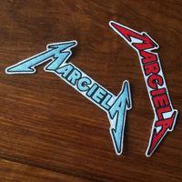 Vendita calda MARGIELA Black Label Society Ricamo Patch di Ferro Su Abbigliamento Donna Distintivi Da Uomo Punch Da Cucire Motociclista Patch Emblema