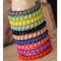 A summer candy color line Zouari transparent big telephone line ring FS00119