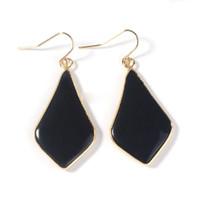Kristall Ohrringe 18 Karat Gold Überzogene Naturstein Rhombus Ohr Zubehör Mode Charms Schmuck Für Frauen Geschenke
