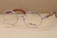 Óculos moldura de madeira quadros redondos óculos de metal olho prata c para homens 7550178 Decoração de ouro lunettes olho kktvv