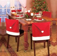 2017 new Christmas holiday products set decorative chair cov...