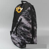 Mochila de camuflagem cinza Kevin Durant mochila KD marca mochila Mochila de basquete Saco de escola de esporte Pacote de dia ao ar livre