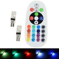 5050 SMD RGB T10 194 168 W5W автомобилей чтение Клин свет лампы 6 LED 16 цветов светодиодные лампы с пульта дистанционного управления вспышки / стробоскопа
