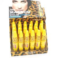 Máscara de maquillaje fácil 24 piezas / lote Máscara Ultra-Volumateur impermeable Freefiber Vltamln-e de larga duración negro grueso 8217