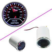 """Freeshipping New Auto 2 """"52mm Universal DC 12 V voltímetro medidor de forma redonda Volt Medidor com brilhante LED tester voltagem para carro"""