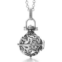 Diffuer Locket Necklace Essential Oil Diffuser Necklace Pendants Aromatherapy Necklaces Fashion Perfume Diffuser Necklace 6 Colors