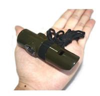 7 в 1 Qihe свисток выживания свисток открытый многофункциональный спасательный свисток портативный высокочастотный / полевой компас
