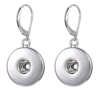 Noosa Snap Buttons Aleación Pendientes Ear drop Joyería moda DIY Mujeres Canjeable Candelabro Candelabro Accesorios para la venta