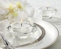 Свадебные принадлежности сувениры Кристалл Алмаз форма tealight подсвечник подсвечник для свадьбы украшения дома 100 шт. Оптовая