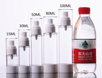 Livraison gratuite - bouteille airless 80ml 100ml, emballage cosmétique, récipient à cosmétiques, bouteille à pompe Flacon pulvérisateur en plastique JF