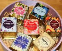 Metal Portátil vintage Tea Tins Lids Container Gifts Cajas para boda paquete de regalo de empresa de cumpleaños