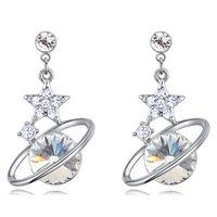 Stern-Mond-Ohrringe Kristall von Swarovski Kristall von Swarovski Elements Modeschmucksache-Tropfen-Ohrringe für Frauen 26865