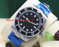 أعلى جودة ساعة اليد الفاخرة no-d 114060 التلقائي 40 ملليمتر الصلب الأسود الهاتفي رجل سوار ووتش الرجال الساعات وصول جديد