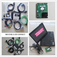 Alta Qualidade OBD2 Scanner MB Estrela C4 + Laptop X200T +2017.09 Engineer DTS HDD Professional para Mercedes Benz Cars and Trucks Diagnosti Tool