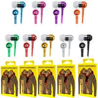 Zipper Auricolare 3.5mm Jack Bass auricolari In-Ear Headphone Zip per Samsung PC del telefono METÀ Ipod MP3 MP4 con il pacchetto