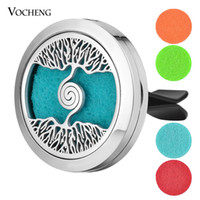30mm Stainless Steel Car Air Freshener Perfume Essential Oil...