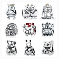 2020 Newest Cute Animal Beads Genuine 925 Sterling Silver An...