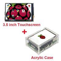 Freeshipping Raspberry Pi 3 Modelo B Pantalla táctil TFT LCD de 3,5 pulgadas + Lápiz + Estuche acrílico compatible con Raspberry Pi 2
