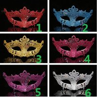 2017 new fashion gold shining plated party mask Twinkle star...