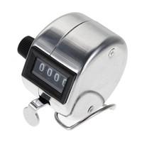 Al por mayor-Venta caliente Mejor precio Metal inoxidable Mini Sport Lap Golf Handheld manual 4 dígitos número mano contador de la cuenta Clicker plata